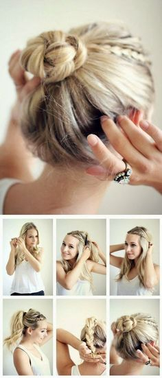 Summer hairdos for long hair – Hair Style Women – Tutoriels Cheveux 5 Minute Hairstyles, No Heat Hairstyles, Pretty Hairstyles, Hairstyles 2018, Medium Hairstyles, Braid Hairstyles, Teenage Hairstyles, Easy Morning Hairstyles, Wedding Hairstyles