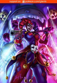 Harley Quinn Comic, Joker And Harley Quinn, Marvel Dc, Hearly Quinn, Harley Quinn Drawing, Female Villains, Catwoman Cosplay, Insane Clown, Skull Art