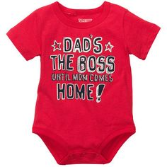 Baby Tripp needs this.  Daddy always tells the girls that he's the boss until Mommy comes home. lol