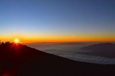 Haleakala at sunset  Love most things about maui.