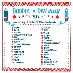 July Doodle A Day #doodleadayjuly #julychallenge