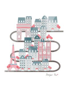Travel In Paris Poster 11x17