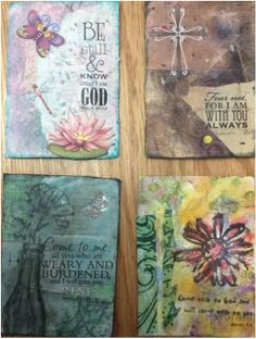 Mixed media cards with Scripture, made to share the Gospel message of God's great love.