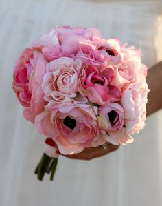 Silk Bride Bouquet Ranunculus Rustic Chic Wedding by braggingbags, $59.99 bridesmaids?