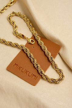 18K Gold Filled Chunky Rope Chain