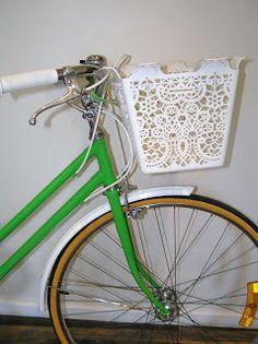 green vintage ladies bicycles