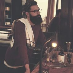 Luke Ditella - full thick dark beard and mustache glasses beards bearded man men mens' style