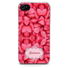 Coque iPhone Gourmandise / Guimauve - Rose