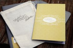 Amazing use of type and design for invitation. RSVP postcard is part of invitation.