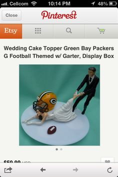 Packer wedding topper!! perfect I feel like someone understands me now!
