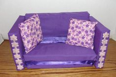No-Sew Barbie Sized fold out sofa bed