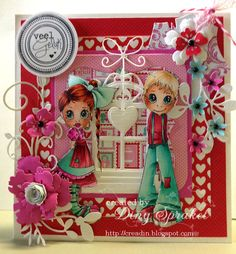 : The colors I used  Skin E000-00-11-13  hair boy-E53 51-50  girl E18-09-YR07-04  red R20-43-46-59  pink RV00-04-06  aqua BG10-11-13-18