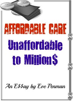 #1 reason to #RepealObamaCare -- over half the population can't afford it. *** Read my analysis @ #amazon #ebooks #money *** #obamalegacy #obamacare #financialproblems