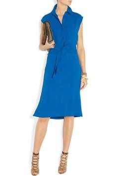 Etro Cutout-back cady dress NET-A-PORTER.COM