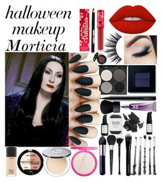 """Halloween Makeup: Morticia Addams"" by sami-kowan on Polyvore featuring beauty, Lancôme, MAC Cosmetics, Gorgeous Cosmetics, Lime Crime, Bobbi Brown Cosmetics, Urban Decay, NARS Cosmetics, Givenchy and Christian Dior"