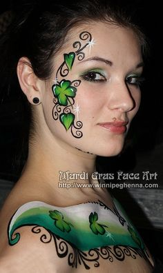 St. Patrick's Shamrock Face & Body Paint
