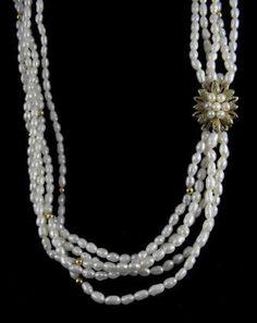 Pearl Torsade Vintage Freshwater Pearl Necklace by hipcricket, $70.00
