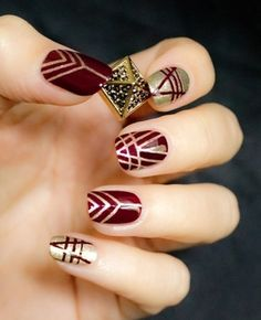 What better way to get Gatsby nails than by using Massai Red Dior polish?