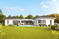 Kötz Haus – Solid brick and turnkey - Build Container Home Rustic Pergola, Wood Pergola, Outdoor Pergola, Pergola Shade, Pergola Plans, Backyard Pergola, Pergola Ideas, Corner Pergola, Bungalow Homes
