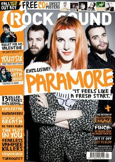 Hayley looks freakin' cute on the latest cover of Rock Sound! REPIN if you're stoked for the Paramore spring tour!