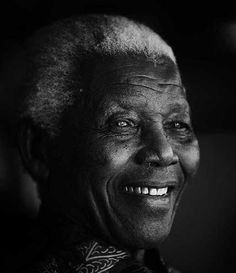 An exclusive portrait of Nelson Mandela, former president of South Africa Also known as. Nelson Mandela, First Black President, Former President, Black And White Portraits, Black White Photos, Democratic Election, Black Presidents, Human Rights, Black History
