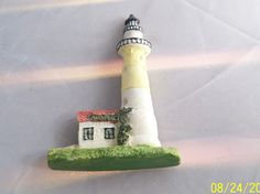 lighthouse kitchen magnet small figural details resin figurine