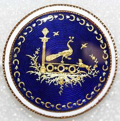 1780s enamel button.