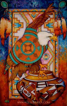 Sky Spirit une carte de voeux de Fine Art par HollySierraArt