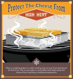 Protect the Cheese From Heat Cheese Food, Cheese Recipes, Veggie Recipes, Wine Recipes, Grilled Roast, Grill N Chill, Smoked Cheese, Smoke Grill, Smoker Cooking