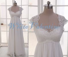 Long+Ivory+Lace+Wedding+Dress+Lace+Reception+by+WhiteValentine,+$138.00