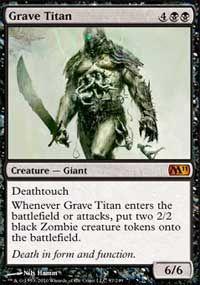 Grave Titan from Magic 2011 (M11) L3.00 H15.95
