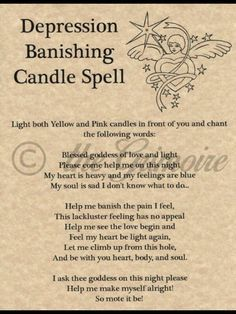 Depression banishing spell