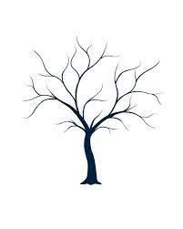Billedresultat for free baby shower fingerprint tree template