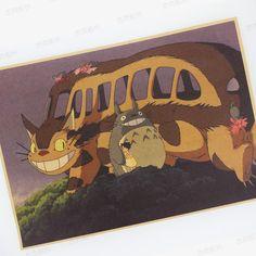 龙猫 怀旧牛皮纸海报 复古电影挂画 酒吧咖啡厅装饰画芯