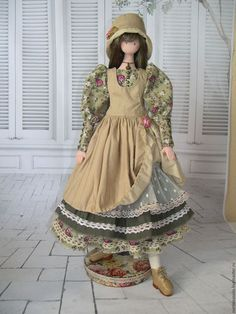 Купить или заказать кукла в стиле Бохо Агата в интернет-магазине на Ярмарке Мастеров. Оттенки оливкового, бежевого и болотного - цвета очень гармонично сочетаются друг с другом. И конечно же небрежная помятость, множество рюшей, кружев и оборок, натуральные ткани - все это неповторимый стиль Бохо!