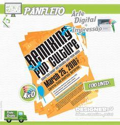 Serviço: Criação Digital de Panfleto + Impressão