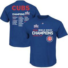 Chicago Cubs 2016 World Series Champions Sweet Lineup Roster T-Shirt  #ChicagoCubs #Cubs #FlyTheW #WorldSeries SportsWorldChicago.com