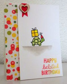 Lawn Fawn - Year Two, Pink Lemonade papers _ such an adorable card by Valerie at Le Scrap de Vava: Happy Belated Birthday: Lawnscaping Challenge #73 Geburtstagskarte, Geburtstag, Kartenideen, Karten, Idee