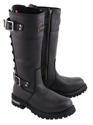 0b274d9e1bf4df Milwaukee Leather Ladies Tall Biker Boots Women s tall harness riding boots  with low heel and cute