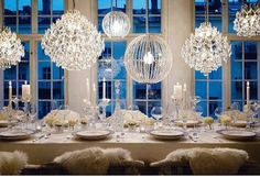 #Chandelier Tablescape