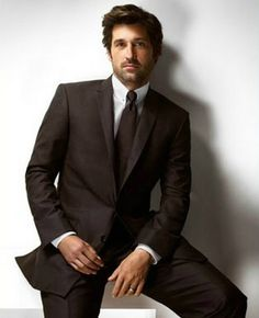 I'm not going to BS any further. Here's Patrick Dempsey For Versace So, is he as McDreamy as his alter ego? Did he make you want to buy Versace fashion once available? Sullivan Patrick Dempsey, Derek Shepherd, Blue Merle, Mens Fashion Suits, Mens Suits, Men's Fashion, Gorgeous Men, Beautiful People, Pretty People