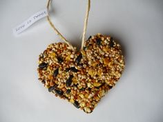 birdseed ornament recipe. So rad and awesome! A great alternative to a sugary Valentines Day gift for your child's class!