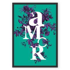 Poster A M O R *verde de @alvarozacarias   Colab55