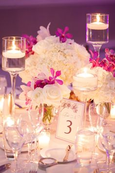 Beautiful Wedding Centerpiece ~ Christine Chang Photography // Floral Design: By Yena Designs