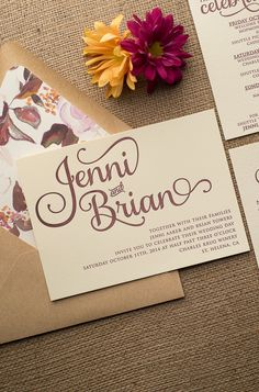 ADELE Suite // STYLED // Rustic Package, beautiful blush and burgundy watercolor floral wedding invitations that are perfect for your rustic or elegant wedding this spring and summer. Our best selling letterpress design gets a new treatment! Letterpress, blush, kraft, burgundy.