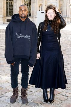 Kanye West and Lorde at the Christian Dior F/W 15 Show // Paris Fashion Week