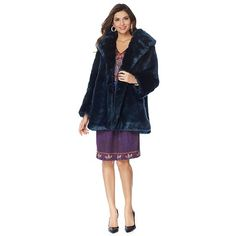 June by June Ambrose Faux Fur Coat with Pockets