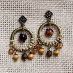 Brincos Rústicos - Rustic Earrings | Beat Bijou | Elo7