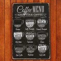 Antique Coffee Menu Venue Decor