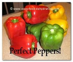 Perfect peppers for dehydrating. More info. at www.easy-food-dehydrating.com